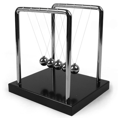牛顿摆球撞球永动球碰碰球金属平衡摆件创意摇摆珠撞珠动量守恒仪