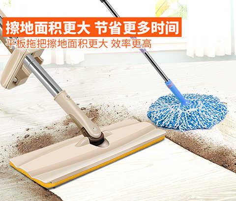免手洗平板拖把免洗家用地拖懒人旋转墩布木地板瓷砖干湿两用拖布