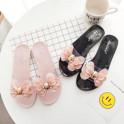 中跟女鞋冬鞋子女韩版夏季凉鞋女时尚平底水钻美人桥拖鞋尚女女鞋