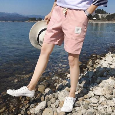 2017夏季纯棉5五分裤宽松裤男士情侣短裤休闲裤夏天沙滩裤