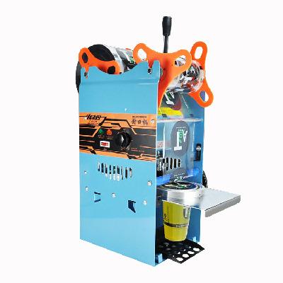 汇利WY-802F高杯珍珠奶茶封口机手压奶茶店设备封口机豆浆封杯机
