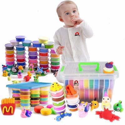 【盒装彩泥送礼包+模具】48色36色儿童橡皮泥套装24色彩泥盒装12