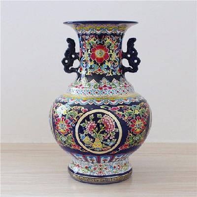 摆件工艺品富贵竹花瓶摆设装饰品摆件客厅摆花家居花盆陶瓷特大玄