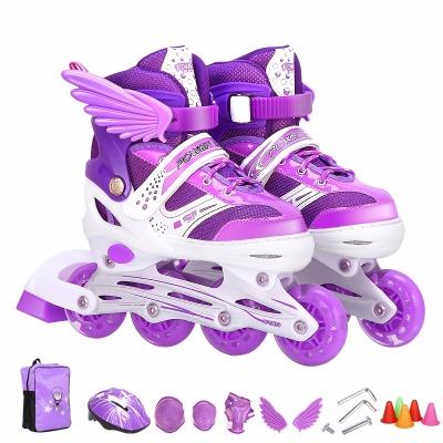儿童溜冰鞋水果盒儿童滑轮鞋鞋子女鞋儿童儿童发光鞋儿童女生滑冰鞋女成人女旱冰人鞋子男双排鞋鞋轮子男暴走鞋双轮溜男孩轮滑童的