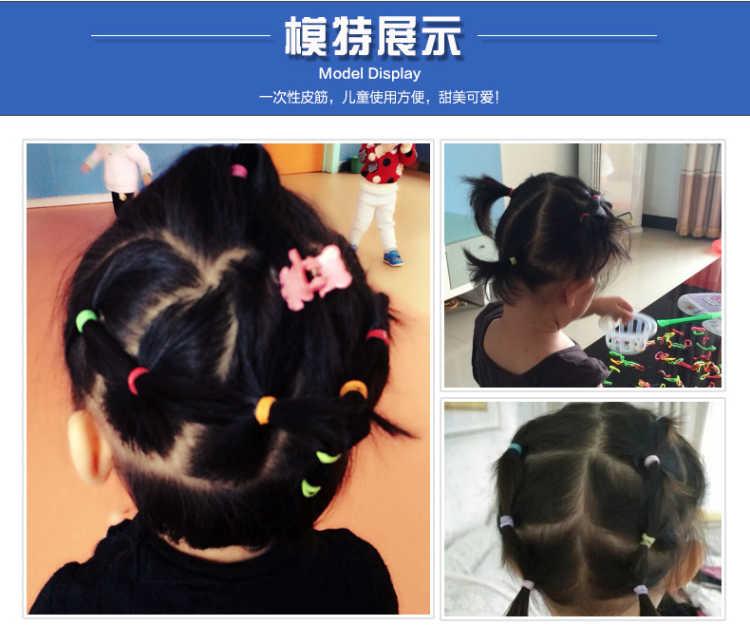 高弹力儿童不伤发一次性橡皮筋发绳饰品女黑扎头发圈头绳头饰发饰