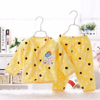 2018男女童冬装婴儿衣服宝宝特厚秋套装新生儿珊瑚法兰绒婴儿衣服
