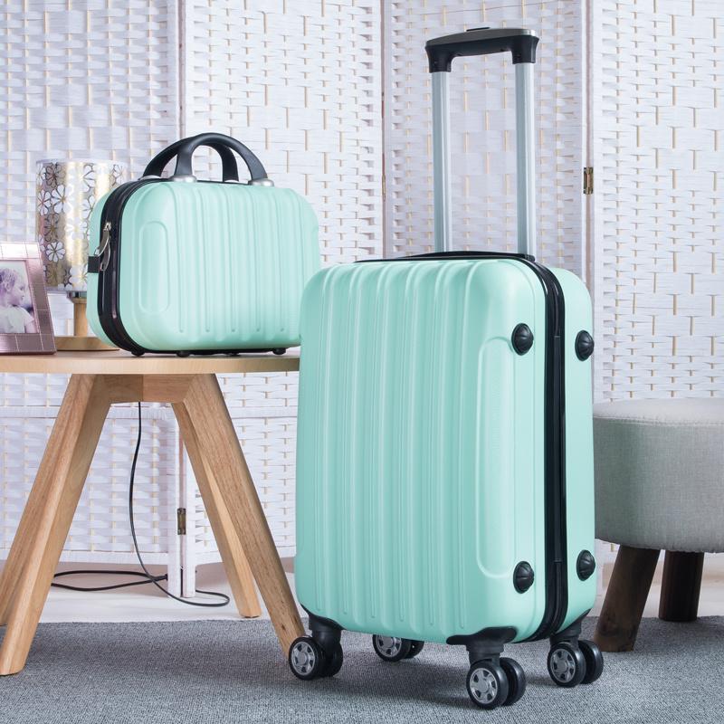 皮箱女旅行箱女化妆箱包拉杆箱20寸行李箱保护套行李包拉杆男士行李箱密码锁头皮箱20寸行李箱女学生拉杆箱包行李箱女学生可爱
