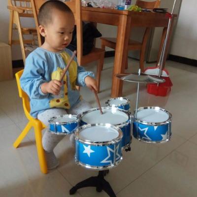 【送吉他】大号儿童玩具架子鼓初学者爵士鼓棒乐器玩具1-3-6-9岁