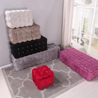 换鞋凳收纳矮凳布艺穿鞋凳沙发凳欧式长凳储物凳服装店凳子床尾凳