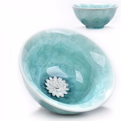 天目瓷建盏陶瓷主人杯单杯功夫茶具杯子个人品茗茶盏银杯子