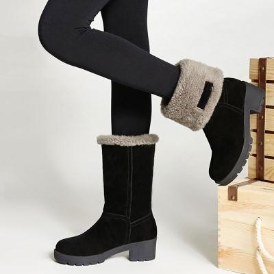 中靴女女鞋冬季高跟女士磨砂短靴单女靴子高筒内增高女高明星同款少学生棉鞋平底春季女短女冬鞋布鞋高跟女学生女款大码加绒加厚保