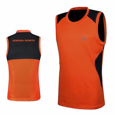 户外运动 跑步背心 男夏季身无袖运动t恤速干服 篮球服透气健身衣