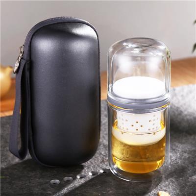 玻璃陶瓷快客旅行茶具套装家用迷你小便携包功夫泡茶杯子一人茶壶