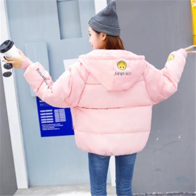 外套女韩版宽松学生加厚连帽大码短款棉衣女冬面包服女学生棉服女