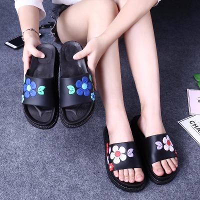 女凉鞋平跟女鞋夏季衣服女夏韩版松糕鞋女月子季女士瓢鞋高跟平底
