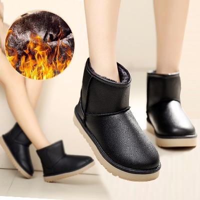 内增高靴子女鞋大码女靴子加绒短靴套筒头保暖女可爱毛毛鞋学生短靴女加厚女学靴男士鞋冬季二棉长平底中时尚鞋冬韩版毛线鞋底子毛