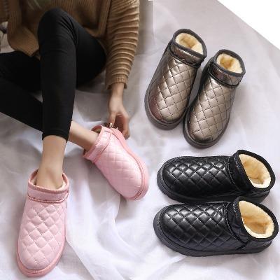 【限时促销 限200双】法比FABI正品 雪地靴女菱格棉鞋2017冬季新款短筒面包鞋保暖学生短靴女靴平底女鞋