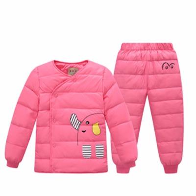儿童羽绒服内胆套装小童套装男女童冬装两件套内外穿冬季羽绒套装