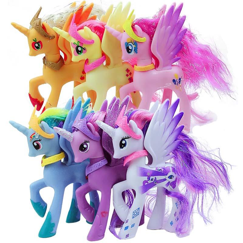 全套小马宝莉12款手办摆件玩偶紫悦宇宙音韵公主穗龙碧琪塑料玩具图片