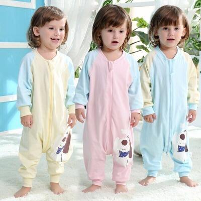 婴儿睡袋秋冬分腿加厚儿童枕头宝宝套装女婴儿女宝秋装两岁衣服薄