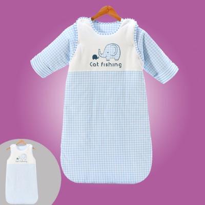 婴儿睡袋小孩保暖春秋冬四季款宝宝防踢被新生幼儿童蘑菇加厚神器