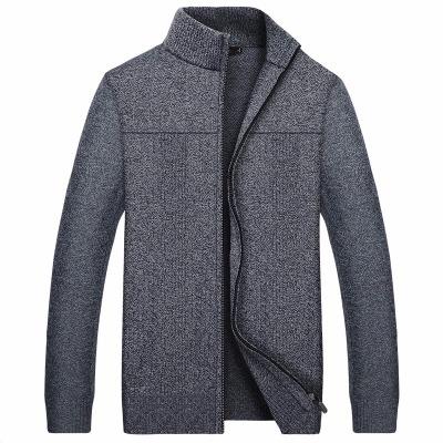 男士开衫羊绒衫针织衫外套羊毛衫男款毛衣爸爸装中年男士休闲外套