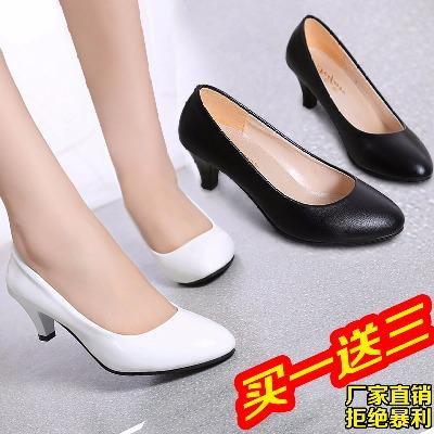 高跟鞋冬季女女士鞋子李溪芮同款鞋恨天高鞋细女短跟女鞋女鞋粗跟