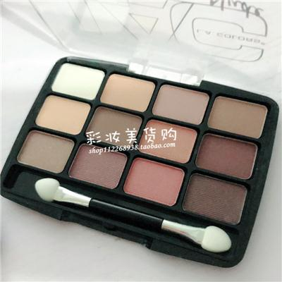 包邮美国L.A. LA COLORS 12 COLOR EYESHADOW PALETTE 12色眼影盘
