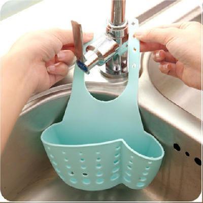 【1-2个装】可调节按扣式水槽挂水龙头海绵沥水架收纳架收纳挂篮