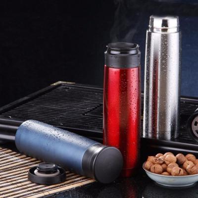 420ML全304不锈钢车载杯 便携式双层保温杯防漏硅胶圈 保温瓶