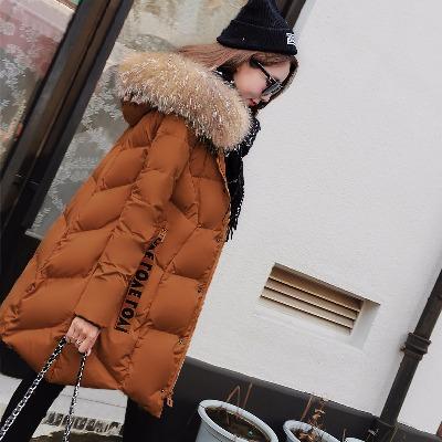 冬季外套女2018新款棉衣中长款韩版宽松大码羽绒棉服加厚冬装棉袄