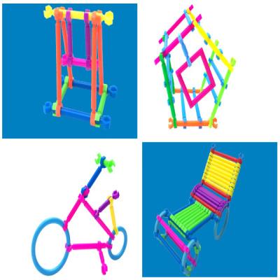 形状】【送收纳盒】【送贴画】聪明棒拼插装儿童益智积木玩具3-4-5-6图片