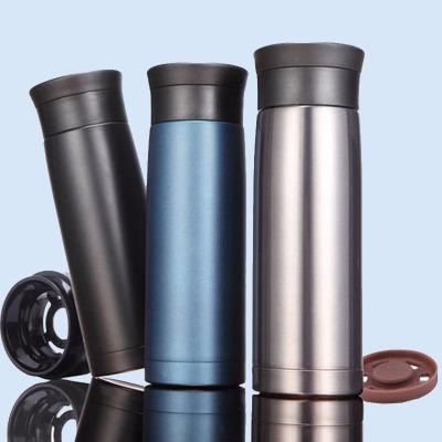 全304不锈钢车载杯保温杯420ML男女士双层真空不锈钢水杯商务