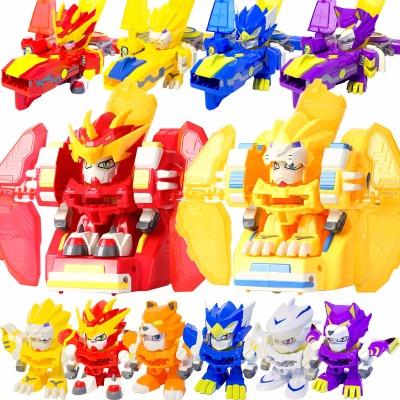 激战奇轮3玩具正版烈焰狮王神枪奇轮战士炽火战神兽龙合体机器人