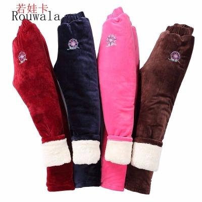 【Ruowala/若娃卡】男女童打底冬款加绒加厚三层宝宝高腰保暖棉裤