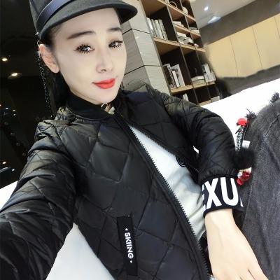 时尚百搭棒球服女学生韩版可爱修身显瘦短款棉服修身短装胖外套女