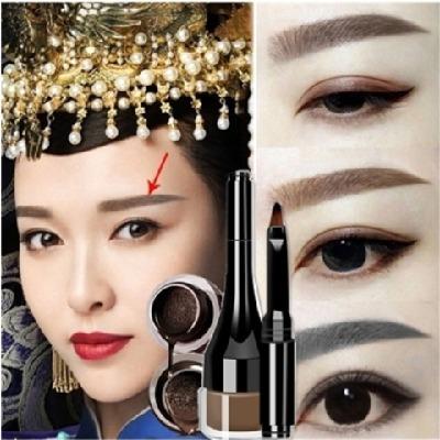 韩式半永久气垫眉膏眉笔初学者不脱色持久自然易上色防水懒人必备