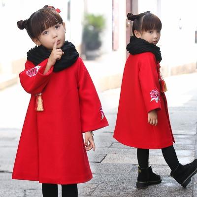 儿童女服装女夏装套装冬季女古代头饰小童唐装旗袍棉袄衣服女女外