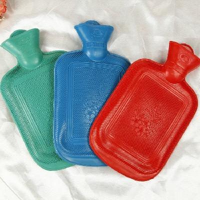 橡胶注水热水袋 防爆充水暖水袋可拆洗毛绒套暖手宝防爆pvc注水