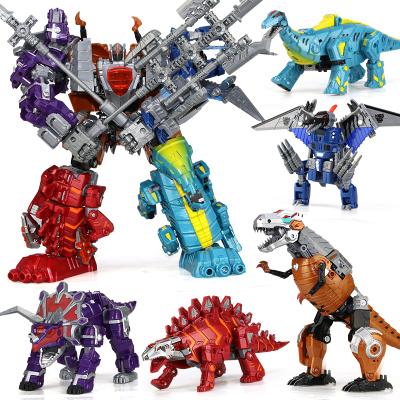 锦江变形金刚玩具霸王龙恐龙机器人模型五合体组合玩具男孩儿童玩具礼物超级好玩益智闪光机器人玩具乐器