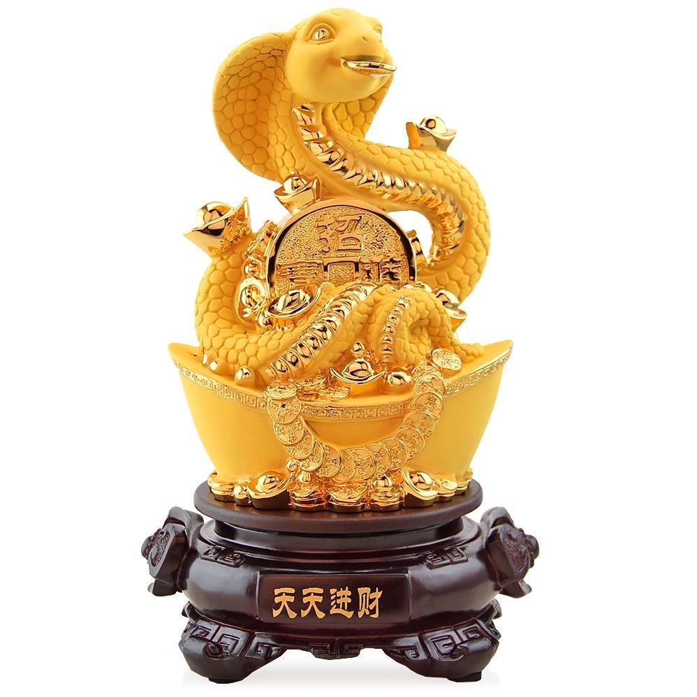 生肖蛇大号招财风水家居饰品工艺品蛇摆件属蛇人的吉祥物