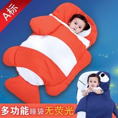 婴儿睡袋 无荧光抱被 新生儿秋冬季加厚防踢被春秋宝宝被子外出包
