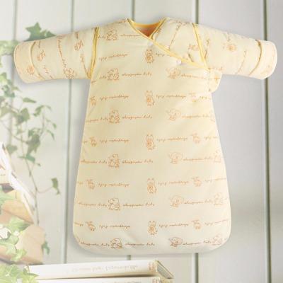 宝宝睡袋秋冬款小孩防踢被婴儿抱被新生儿抱被可拆袖子可露腿
