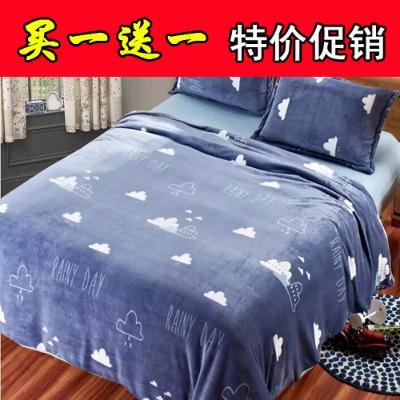 电毯子冬季床单加绒床单珊瑚绒毛毯子儿童加厚单人铺毯长款水貂毯