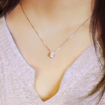 紫金项链刻字戒指精品礼物送妈妈礼物金子女生装饰品女孩私人钛钢