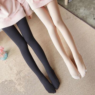 【俞兆林】春秋款打底裤女中厚压力裤黑色肤色美腿修身踩脚连裤袜