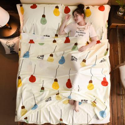 旅行睡袋隔脏睡袋便携式室内酒店宾馆成人竺棉隔脏床单火车卧铺户外旅游用品