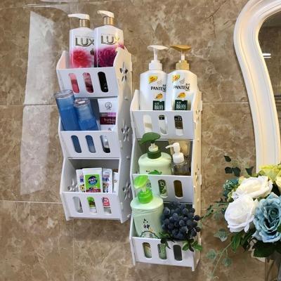 【住宅家具】免打孔送2种无痕钉墙上卧室防水墙面手机收纳架浴室