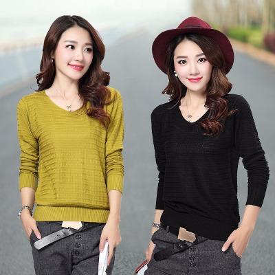 新款毛衣针织衫打底衫外套韩版宽松套头时尚百搭羊绒衫长袖女上衣