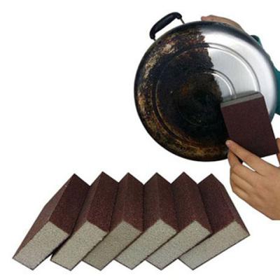 【超值1-10片】金刚砂多功能海绵擦擦锅神器除铁锈厨房清洁去污